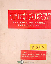 Terry Type Z-1 and ZS-1, Steam Turbine, Operations and Parts Manual 1959