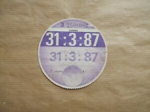 VINTAGE-TAX-DISC-MARCH-1987