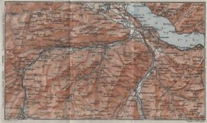Considerate Thuner See Gantrisch Spiez Frutigen Oberwil 1928 Map Products Are Sold Without Limitations Simme/kander Valleys