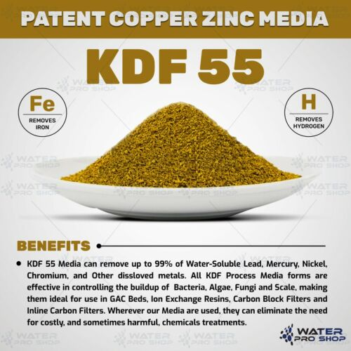 1 LBS Patent KDF 55 Media Heavy Metal and Bacteria Removes Chlorine NSF