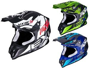 Scorpion-VX-16-Air-Albion-Casque-Cross-Offroad-Motocross-Sport-Ete-Mx