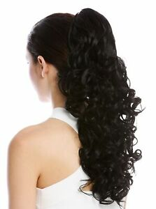 Hair-Piece-Ponytail-Curls-Curly-Voluminous-Hooked-Combs-Long-50cm-Black