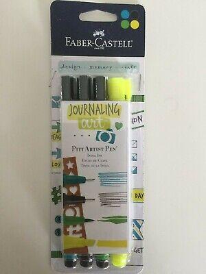Faber Castell Lettering Art Pitt Artist Pen Primary Brush Tip 4 Pcs