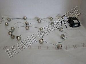 Pottery Barn Pb Silver Ornament String Lights Led
