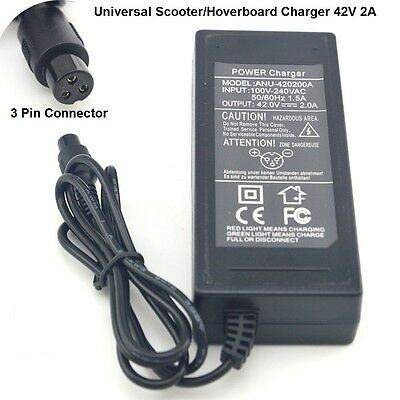 42V 2A Power Adapter Charger Power Supply   Balancing Hoverboard Scooter Cord
