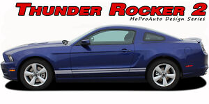Lower Rocker Panel 2 Stripes Decal 3M Vinyl Graphic for 2005-2009 Ford Mustang