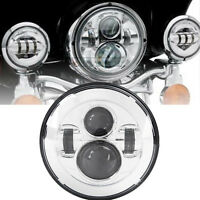 7 Led Daymaker Motorcycle Headlight For Harley Electra Glide Police Flhtp