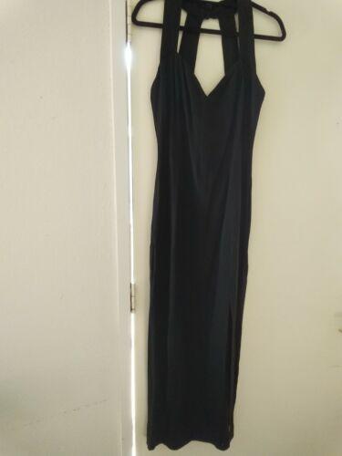 Vintage Jessica McClintock Bridal black halter dre