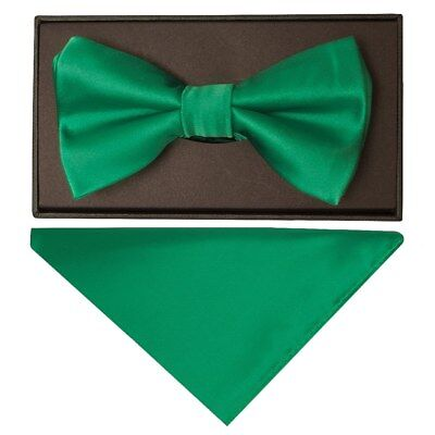 Handmade Paisley Mens Bow Tie and Pocket Square Set Dickie Bow Set Wedding Bow