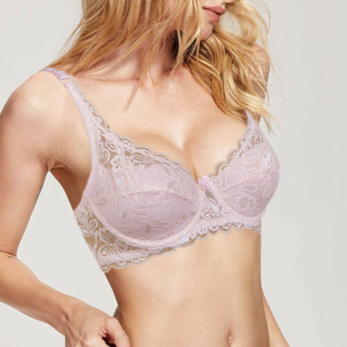 Womens Lace Brassiere Underwire Push up Bra Plus Size 32-40 42 44 A B C D DD E