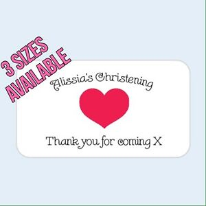 Personalised thank you baby shower/birthday/labels/stickers/party/christening
