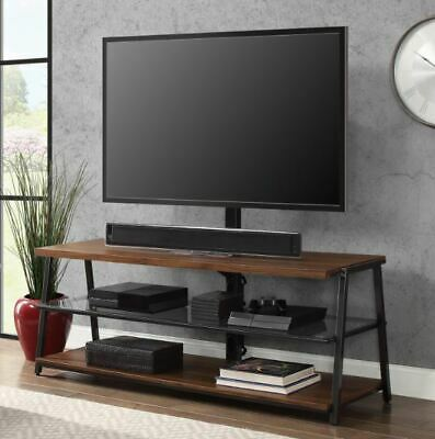 Flat Panel TV Stand 3in1 Display Fits 65 Inch Screen Swivel Mount Wall Tabletop