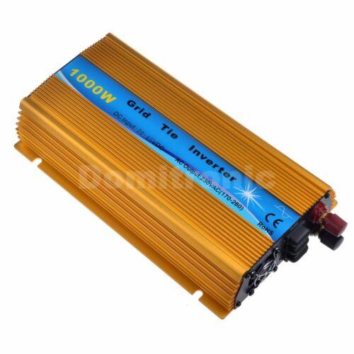 1000W Grid Tie Inverter Pure Sine Wave Inverter 110V or 220V Output Golden Color