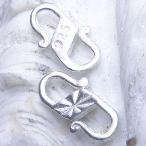 2 Stck Kette u R9 S-Haken 9mm SILBER 925 Verschluss f Armband silver clasp