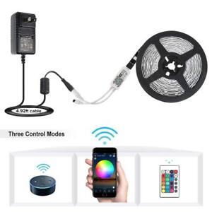 5M RGB 2835 5050 LED Smart Home WIFI Strip Light App Control Lamp Alexa google
