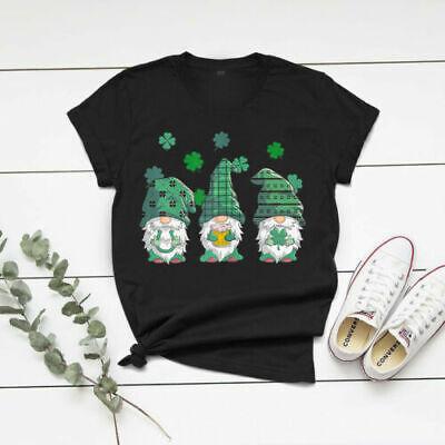 St Patricks Day Gnome Lucky T-Shirt for Men Women Unisex Gildan Tee All Size