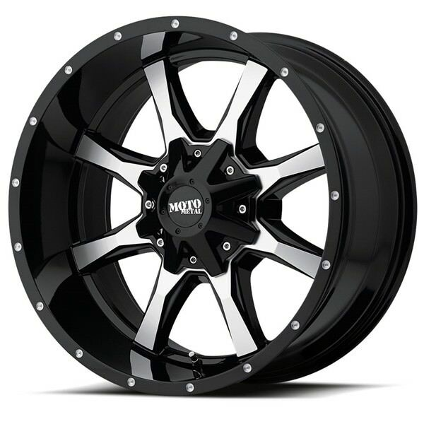 20 Inch Black Wheels Rims Fits Nissan Titan Hummer H3 Toyota Lifted