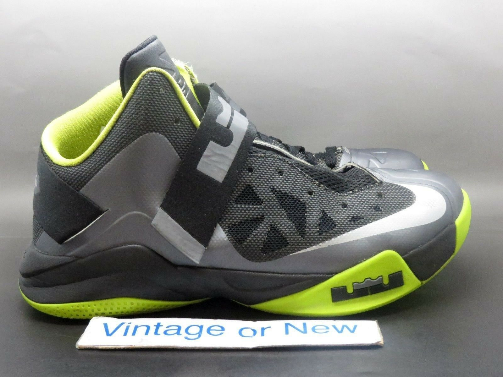 Nike Zoom LeBron Soldier VI 6 Cool Grey Black Volt sz 10