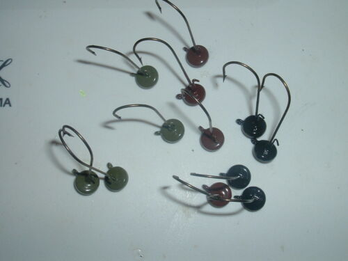 Ned Rig Midwest Finesse 1//8 Oz Lot Of 12 Eagle Claw 3//0 Hook Yank Tackle Co