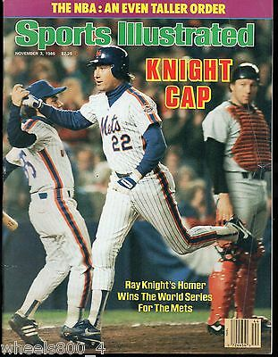 Sports Illustrated 1986 New York Mets Ray Knight World Series No Label Excellent