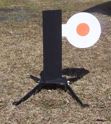 Reacción objetivos único árbol Acero Pistola objetivos de alta potencia Rifle Autoreset