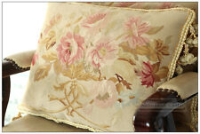 18x14 SHABBY PINK CHIC Aubusson Pillow French Home Decor Sofa Chair Bed Cushion