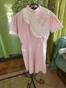 robe-fillette-12ans-rose-tissu-floque