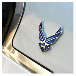 3D-metal-bleu-air-force-logo-voiture-autocollant-decal-usaf-voiture-badge-embleme-1X-decor
