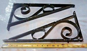 Sm Black STAR Wrought Iron Shelf Brackets for wall mounted shelves