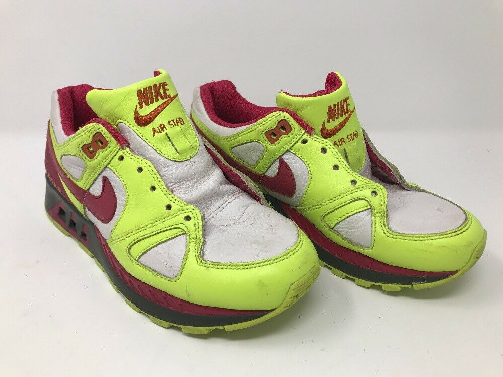 Vtg Nike 317161 Air Stab Neon Yellow Pink Retro Dad Shoe W 6 C3A Seasonal price cuts, discount benefits