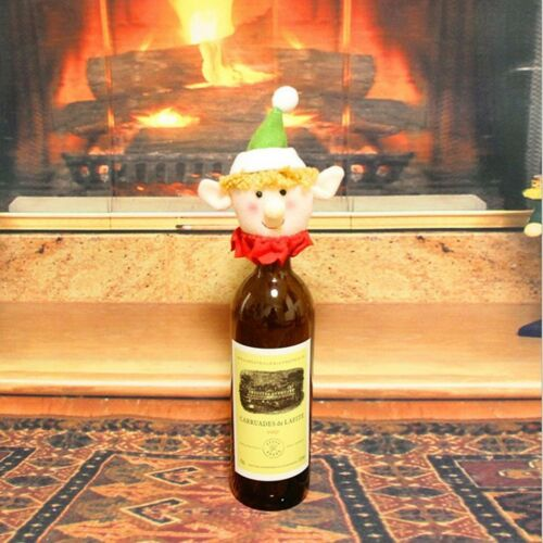 Funny Christmas Elk Wine Bottle Cover Bottle Stopper Xmas Party Decor