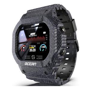 Herren Smart Watch Schrittzähler Blutdruck Sport Fitness Tracker Armbanduhr