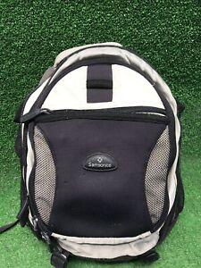 Samsonite Black Gray Cream Travel Backpack Padded Laptop Bag