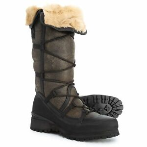 0e753bf61 Details about $600 The North Face Cryos Tall women Boots Leather FUR ugg  Shoes LIMITED EDITION