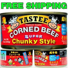 Lot of 4 TASTEE CORNED BEEF (12oz each) - SUPER CHUNKY STYLE - FREE SHIPPING