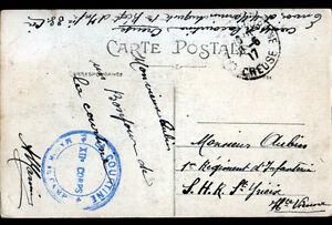 LA-COURTINE-23-CASERNE-FRANCHISE-MILITAIRE-XII-CORPS-MAJOR-du-CAMP-en-1917