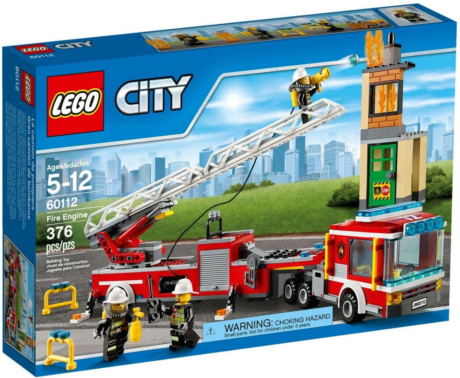 Lego 60112 City Bomberos-Nuevo Sellado, jubilado, Raro