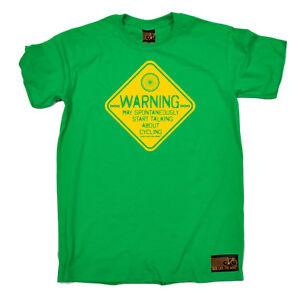 Cycling-T-Shirt-Funny-Novelty-Mens-tee-TShirt-Warning-May-Spontaneously-Start