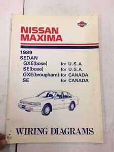 image is loading 1989-nissan-maxima-gxe-se-factory-shop-service-