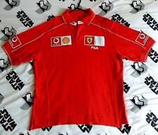 Official Scuderia Ferrari Fila Team 2002 F1 Polo T Shirt Mens Size L