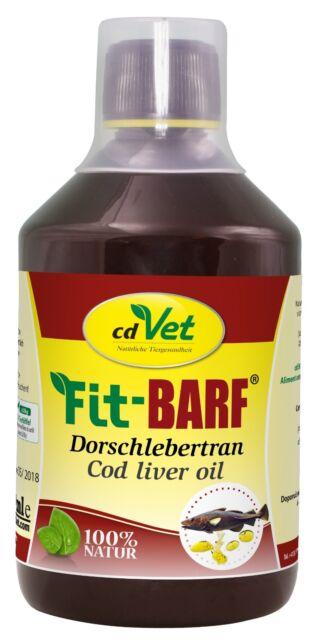 cdVet FitBarf Dorschlebertran 500 ml
