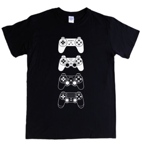 PASTIGLIE PLAYSTATION T-Shirt S 5XL GTA destino di Dio della Guerra FIFA morto Rosso PS1 2 3 4