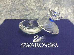Swarovski Crystal Blue Flower Jewel Box 7464000001 207886. Retired 2000. Mint.