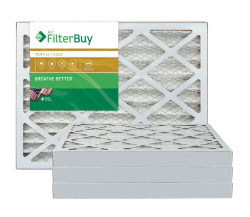 FilterBuy 18x18x2 AFB Gold Pleated HVAC AC Furnace Air Filter MERV 11