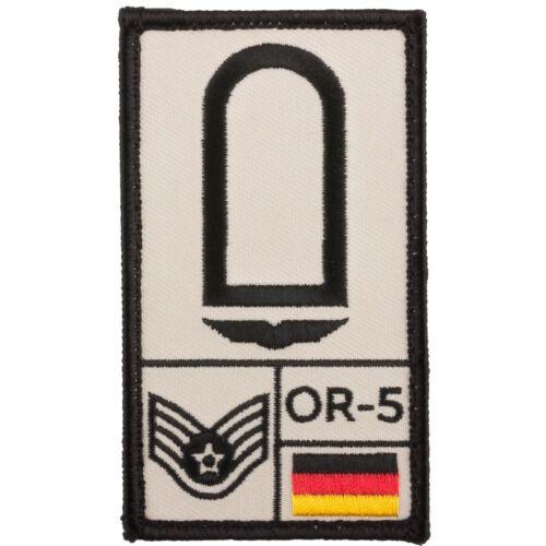 Café Viereck Rank Patch Stabsunteroffizier Luftwaffe sand Abzeichen mit Klet