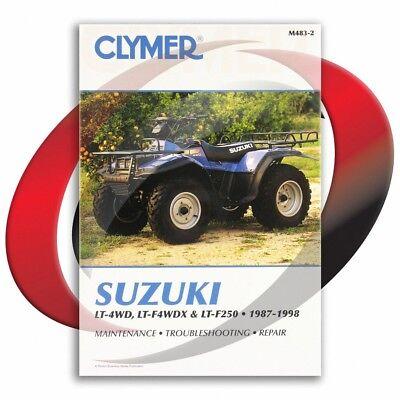 1988 1998 suzuki lt f250 quad runner repair manual clymer m483 2 rh ebay com 2003 Suzuki Ozark 250 Suzuki LT F250 Parts