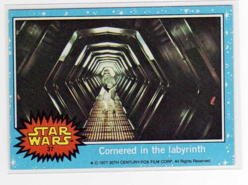 1977 Star Wars Series 1 Blue Single Card #37 NM straight from a wax Pack
