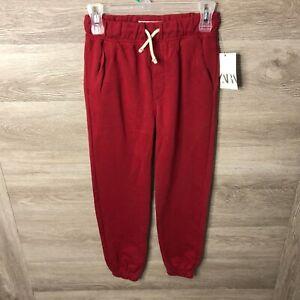 Zara Kids Ninas Talla 10 Rojo Sudor Pantalones Chandal Nuevo Ebay