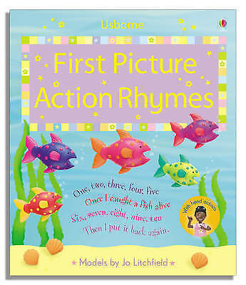 1 of 1 - First Picture Action Rhymes (Usborne First Picture Books), Brooks, Felicity, Ver