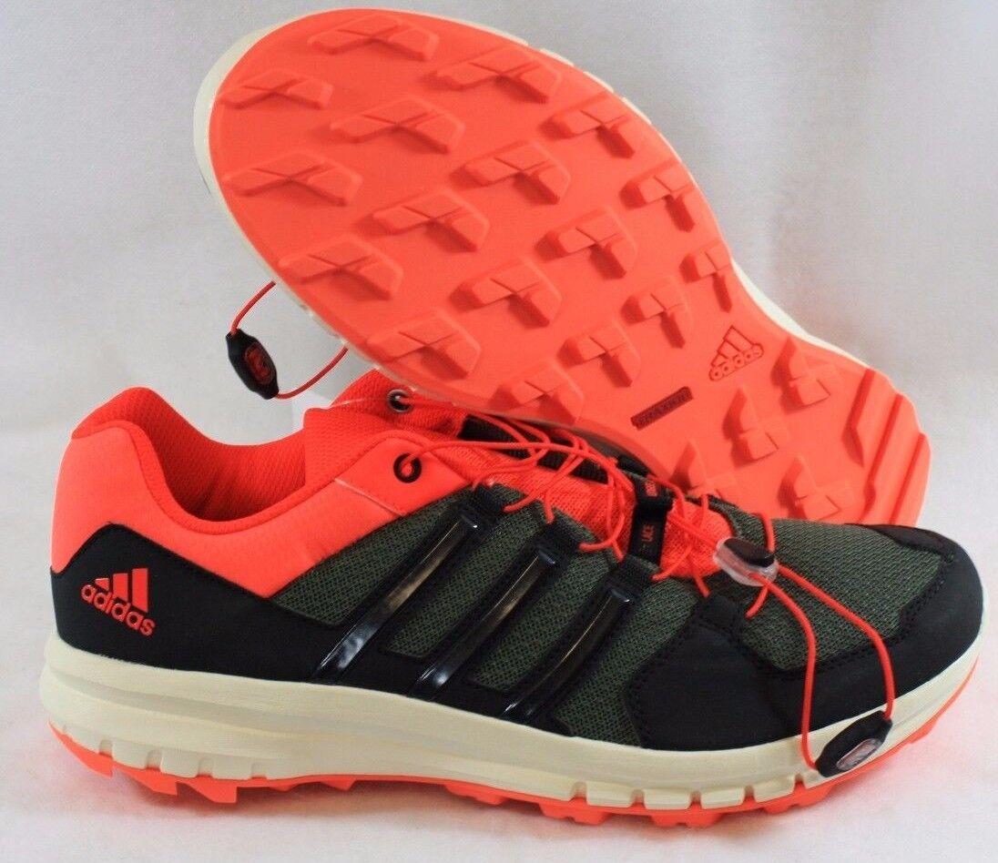 super popular f0e13 115db NEW NEW NEW Mens Sz 9 ADIDAS Duramo Cross Trail B39843 Green Solar Red  Sneakers Shoes